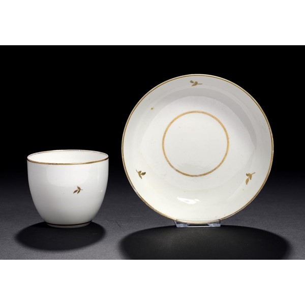 PINXTON MARKED TEA BOWL AND SAUCER Image