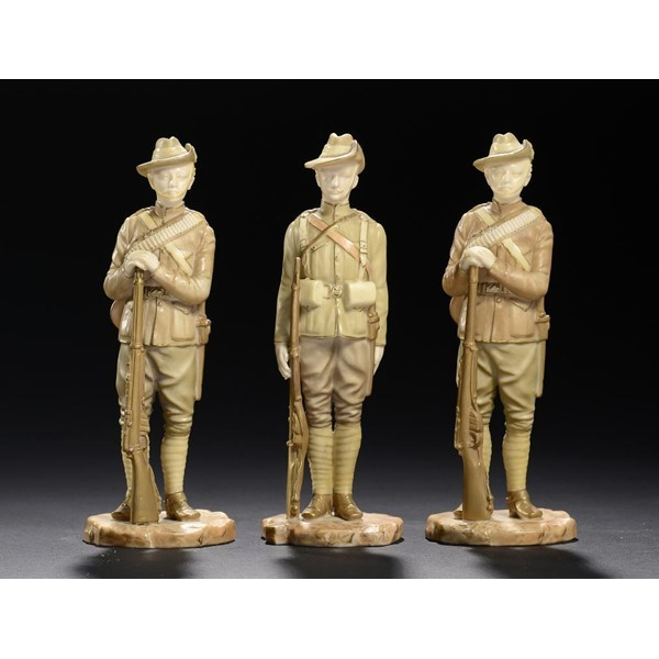 ROYAL WORCESTER FIGURES OF SOLDIERS Image