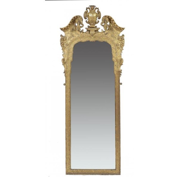 A GEORGE II GILTWOOD PIER GLASS Image