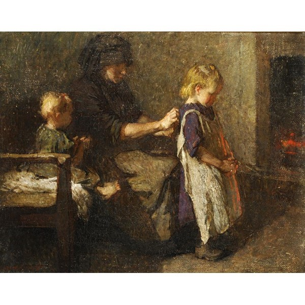 DAME LAURA KNIGHT GOING TO SCHOOL Image
