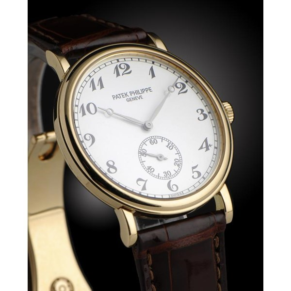 A PATEK PHILIPPE 18CT GOLD WRISTWATCH Image